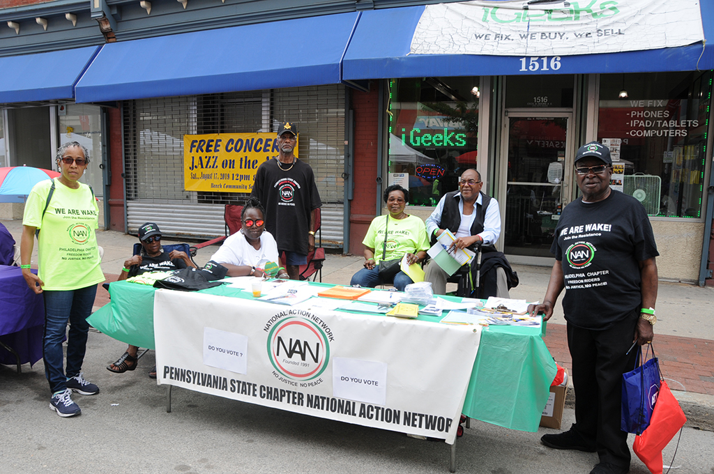 Group of people at table for the PA State Chapter National Action Network